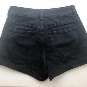 PacSun Shorts - PacSun Black Cuffed Denim Mom Short